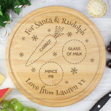 Personalised Christmas Eve Round Treats Board P011480